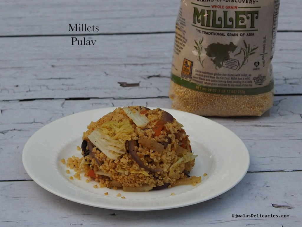 Millets pulav with homemade spice powder