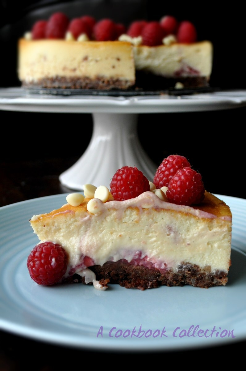 Baked Chocolate and Raspberry Cheesecake