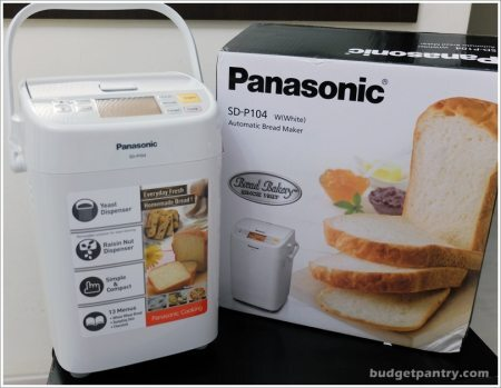 Basic Bread Loaf with Panasonic SD-P104 Breadmaker