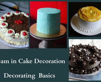 Cake Decorating The Basics : How to make cake icing with amul fresh cream recipes - myTaste