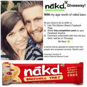 Nakd Bar Giveaway! Birthday Giveaway #1