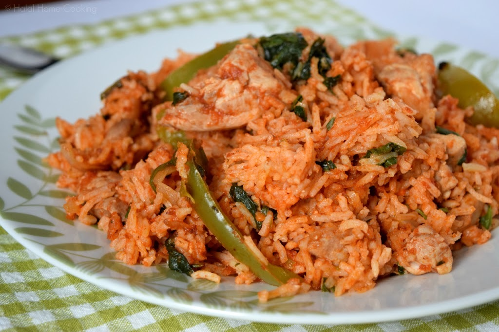 Chicken, Pepper & Spinach 'Jollof' Rice