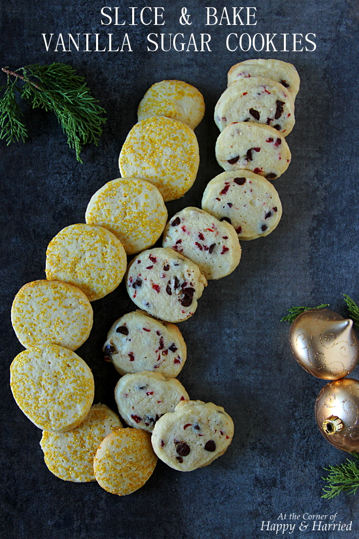 Christmas Baking: Slice & Bake Vanilla Sugar Cookies