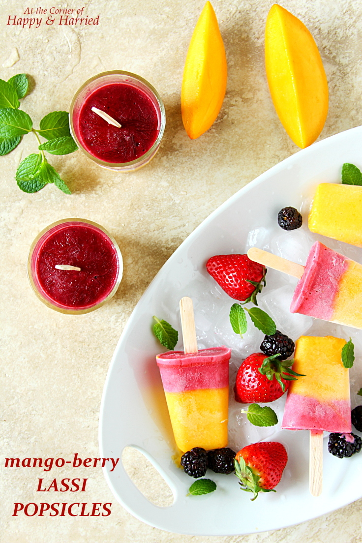 Mango-Berry Layered Lassi Popsicles