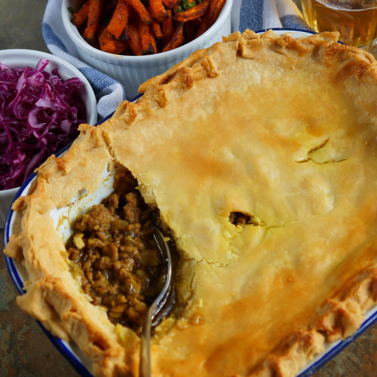 Spiced Lamb Pie for #CelebrateTheNations