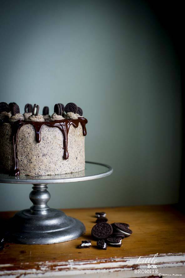 Oreo Chocolate Dribble Layer Cake