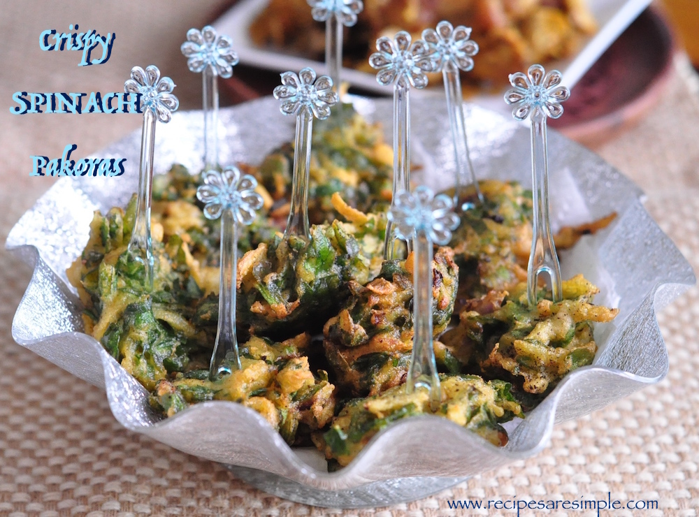 Spinach Pakora 50/50 – Palak Pakora – Indian Spinach Fritters