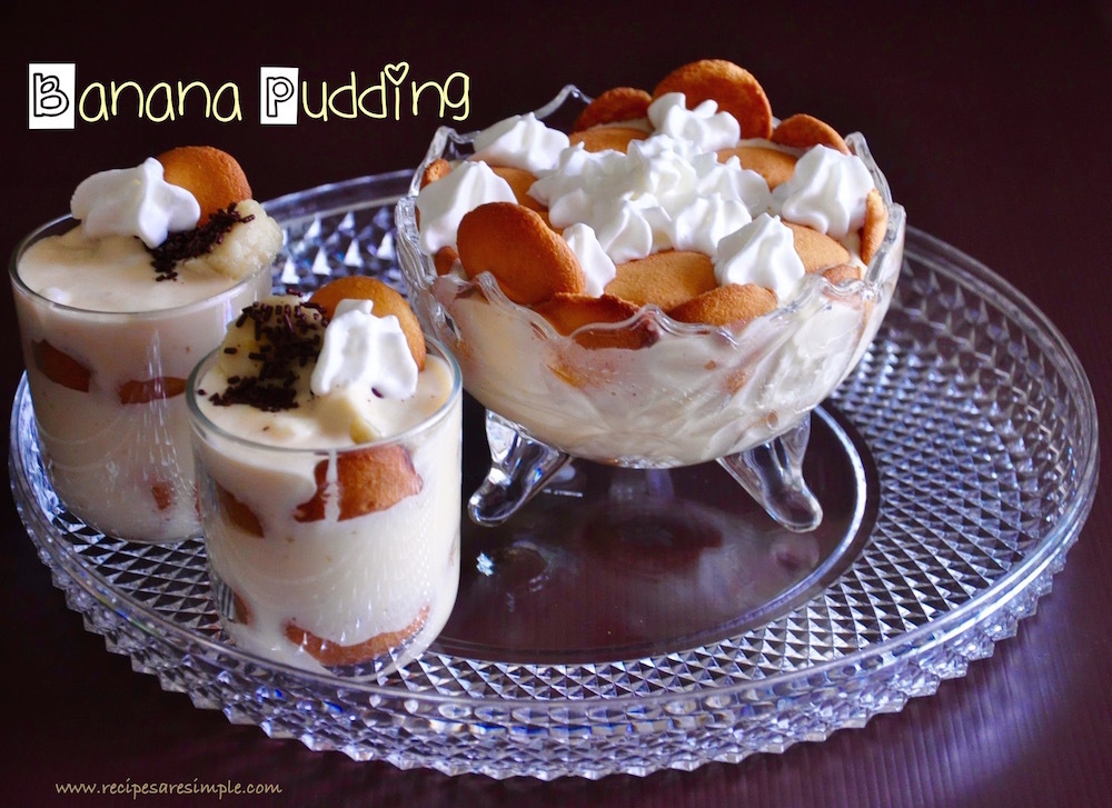 Banana Pudding with Custard Powder