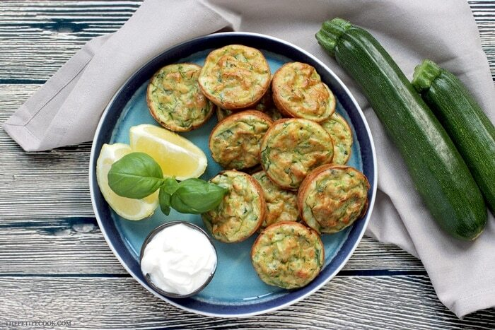 Healthy Baked Zucchini Fritters
