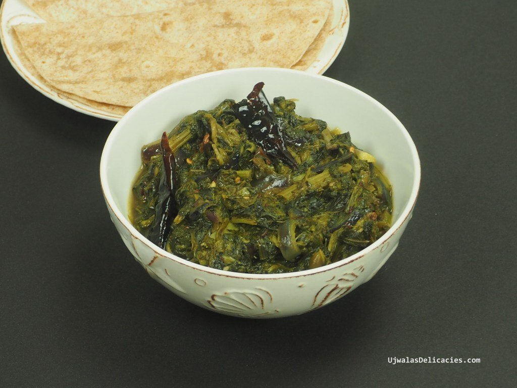 Mustard greens, spinach, fenugreek Saag