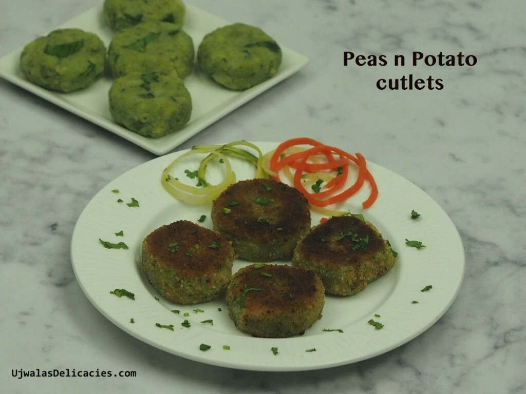 Peas n potato cutlets