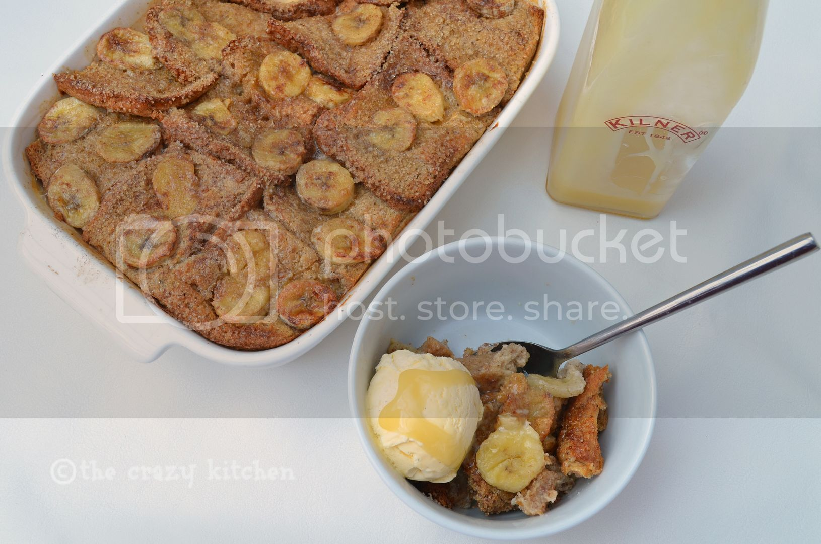 Banoffee Bread & Butter Pudding