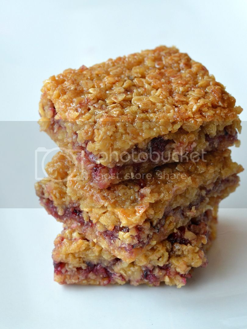 Juicy and Sticky Blackcurrant Flapjacks