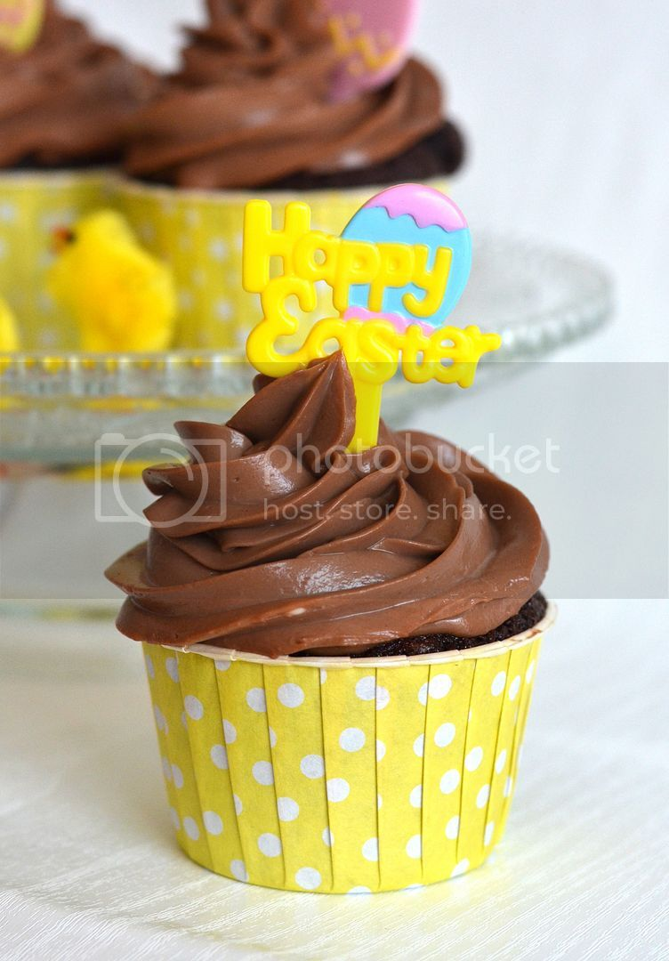 Caramel Chocolate Easter Cupcakes