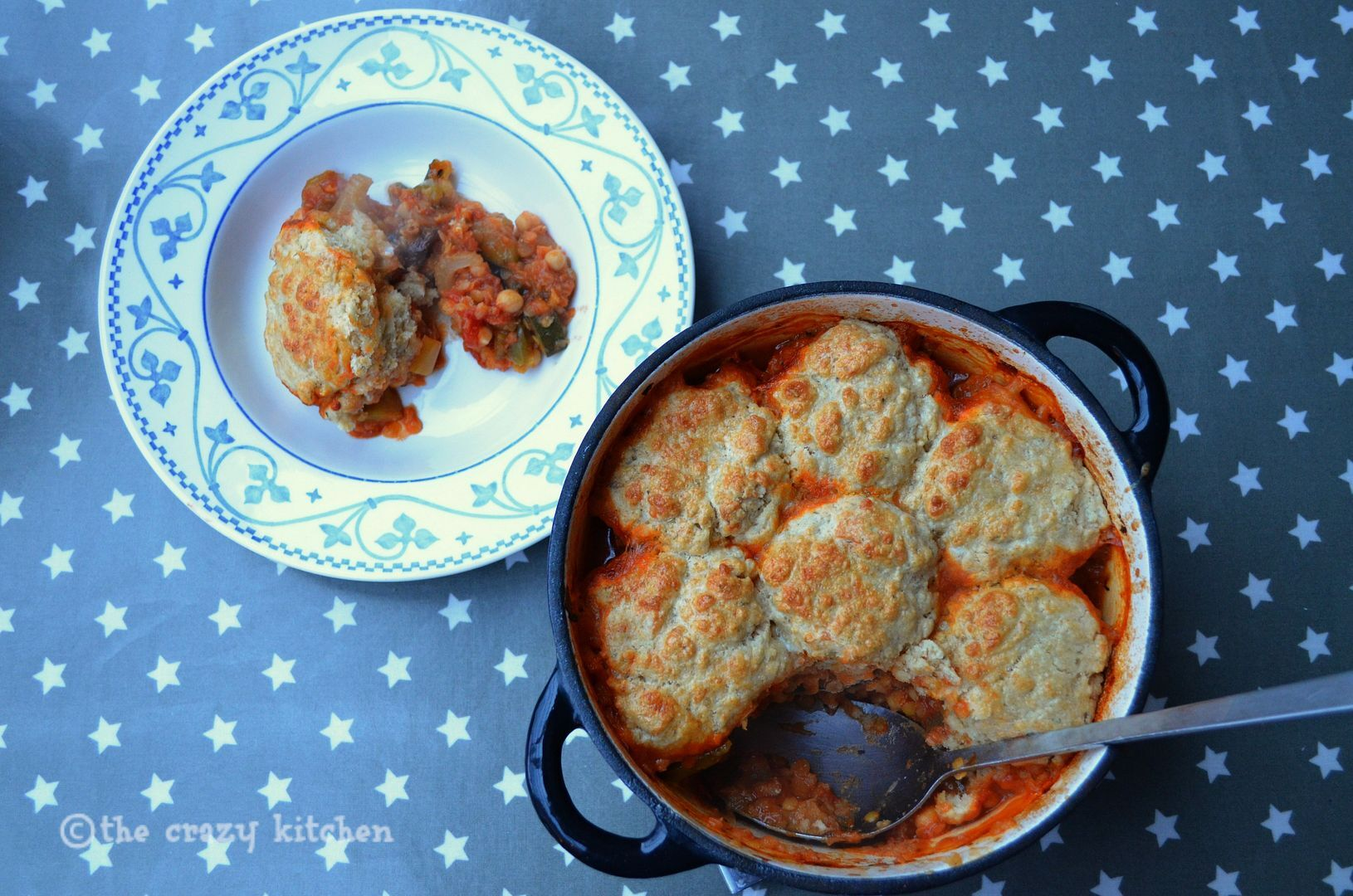 Harissa & Vegetable Cobbler