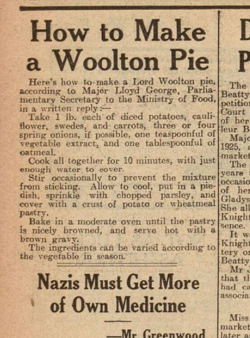 Wartime Woolton Pie with a Modern Twist