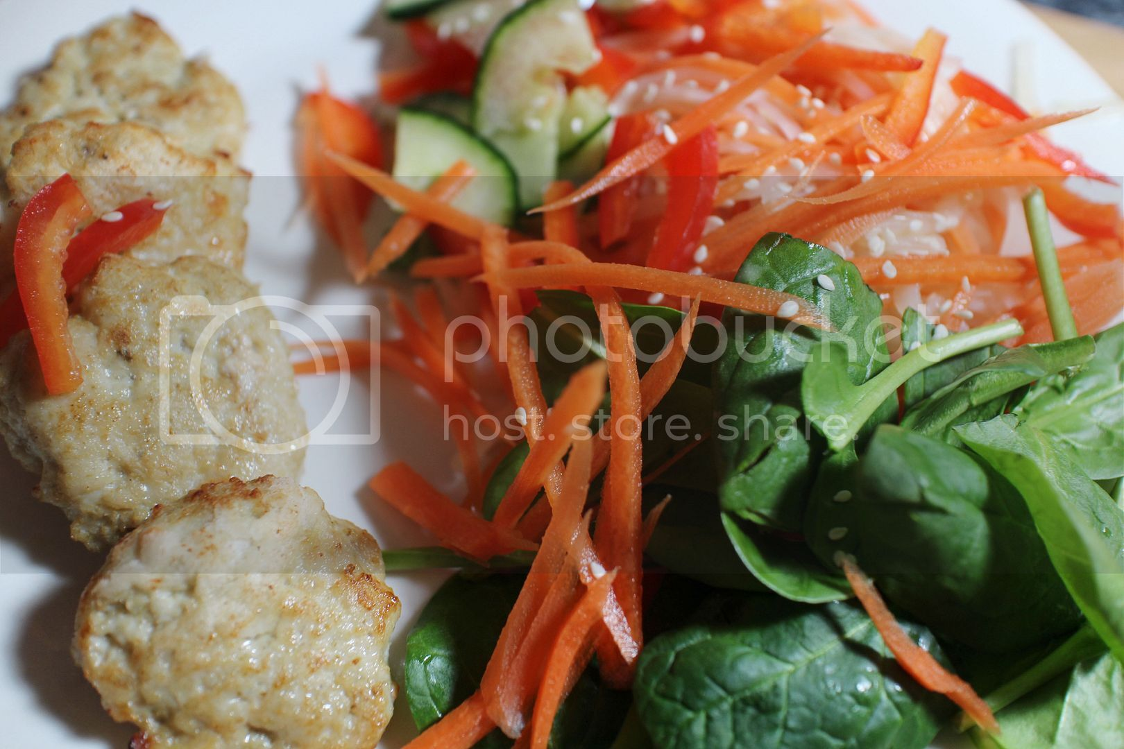 Recipe: Thai Chicken Cakes & Satay Noodle Salad