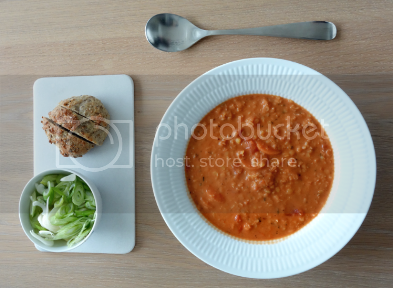 Tomat/linse suppe