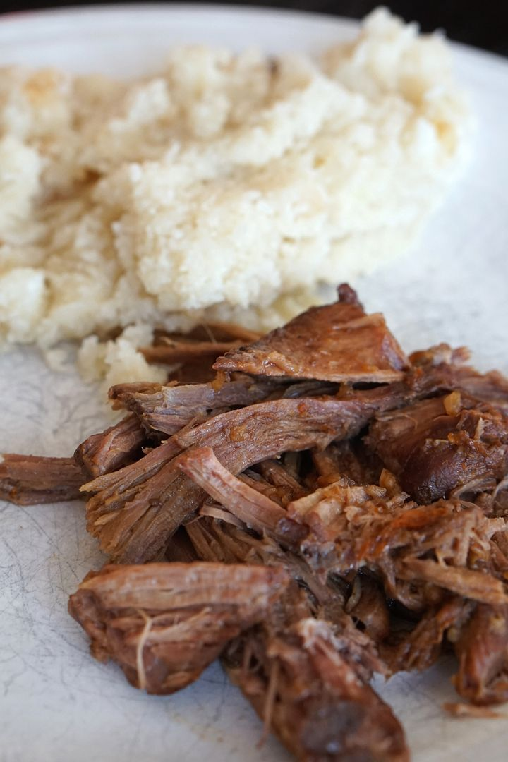 Crockpot Orange Shredded Beef with Riced Cauliflower
