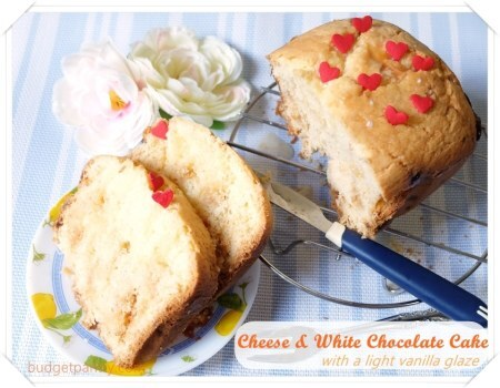 Bread Maker Cheese and White Chocolate Cake