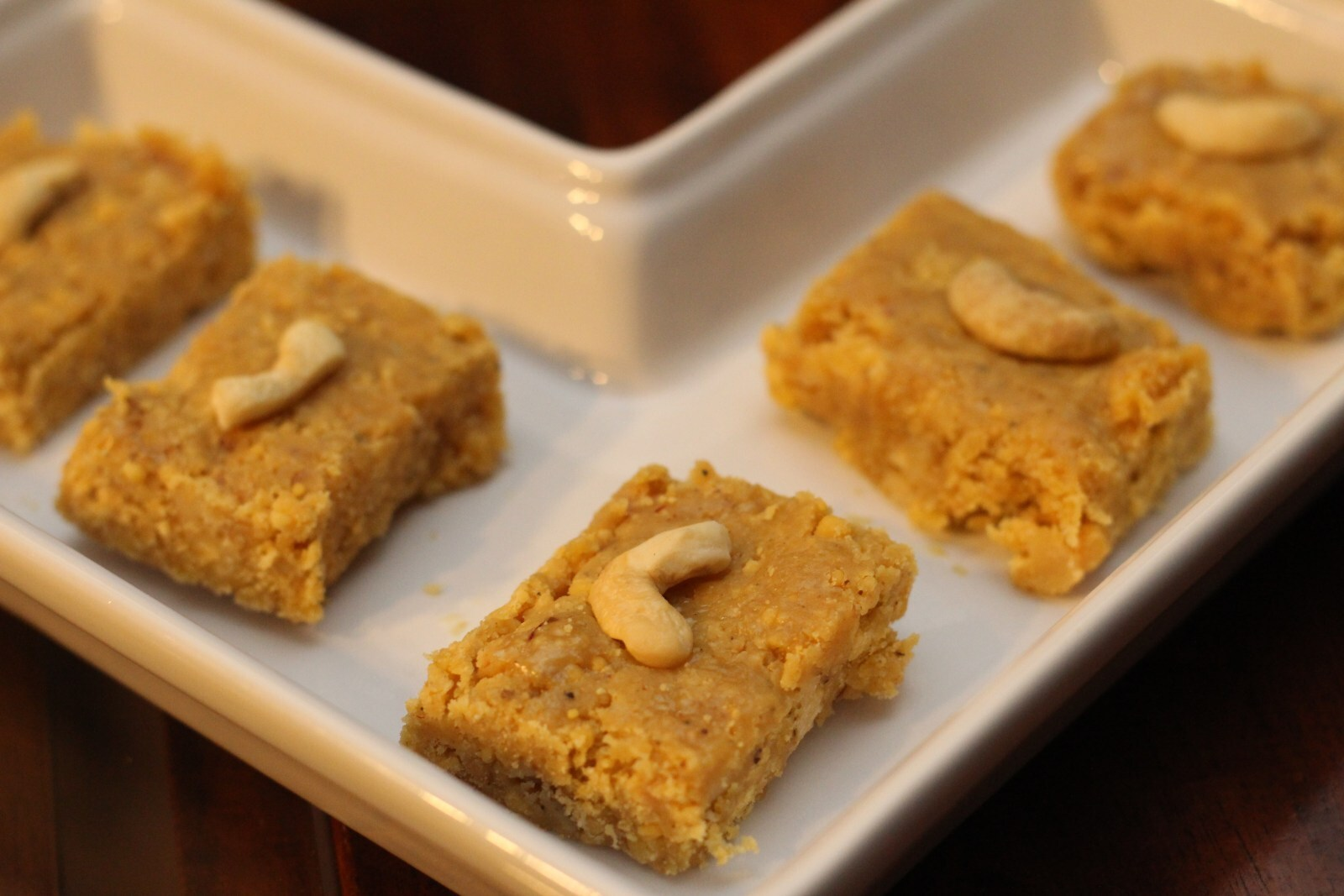 Fudge- o – Mania??? Chickpea Flour ( besan) with walnuts and cashew