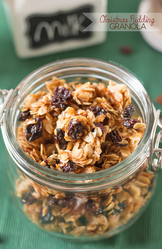 Christmas Pudding Granola