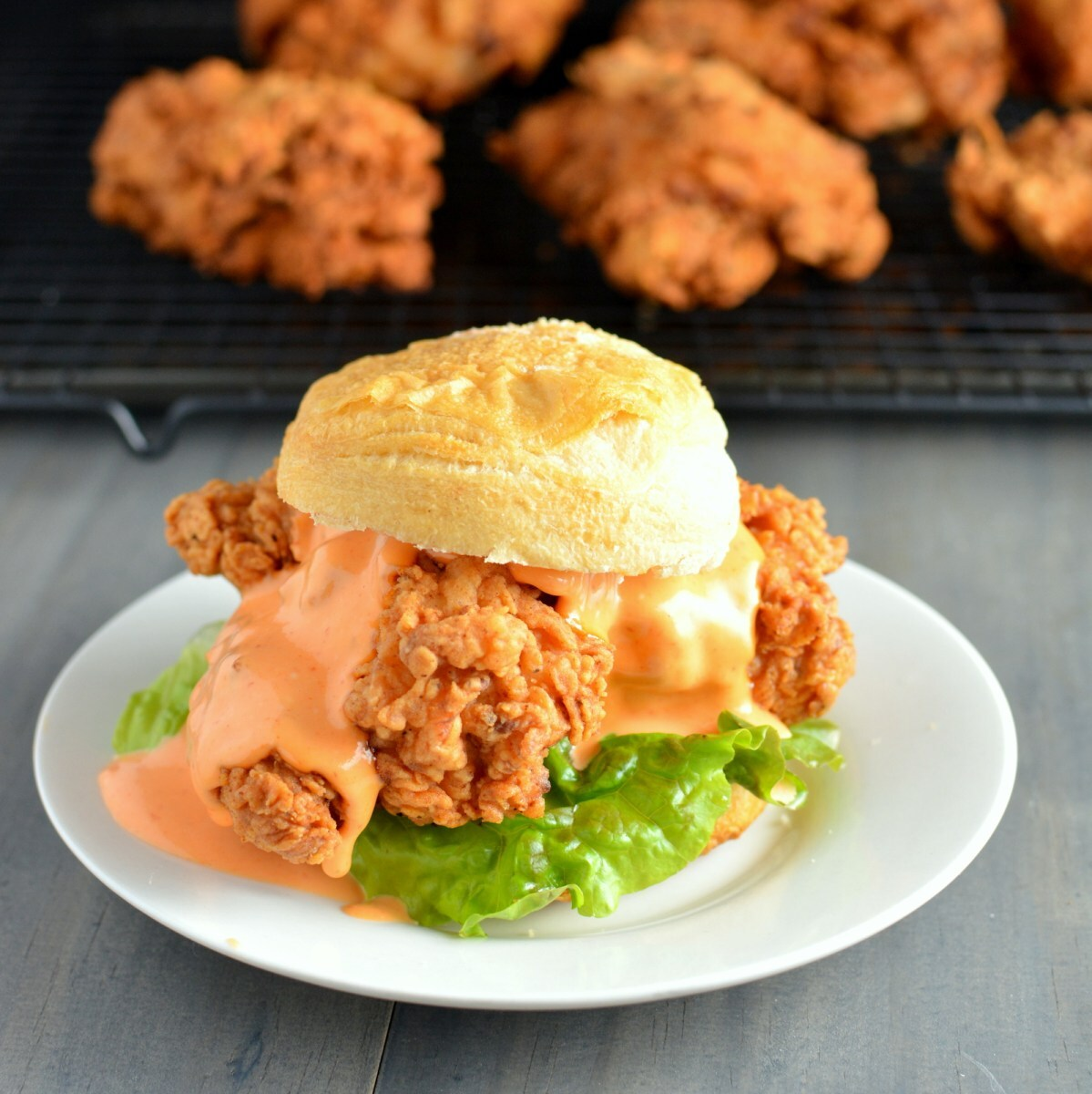 Sriracha Lime Fried Chicken Sandwiches