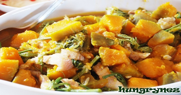 Ginisang Kalabasa With Sayote Tops Recipe
