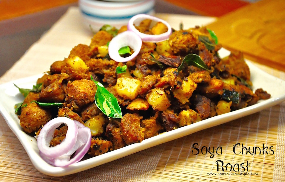 Soya Chunks Roast | Meal Maker Roast