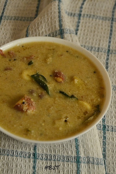 Chakkakuru Pachamaanga Curry ~ Jackfruit Seeds Raw Mango Curry