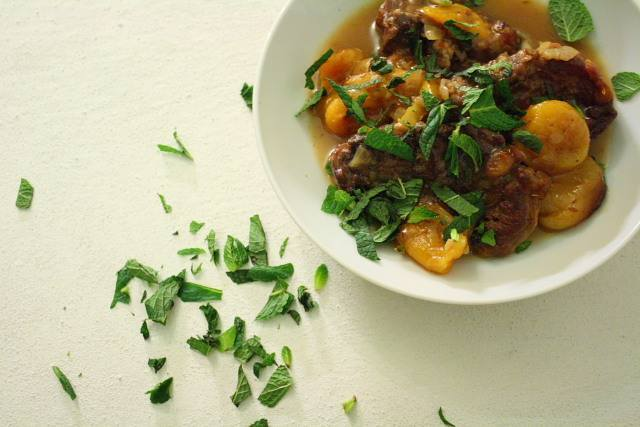 a tagine of lamb with apricots by nigel slater