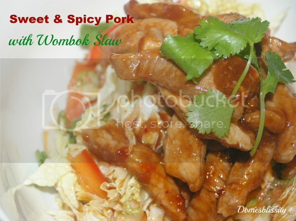 Sweet & Spicy Pork with Wombok Slaw