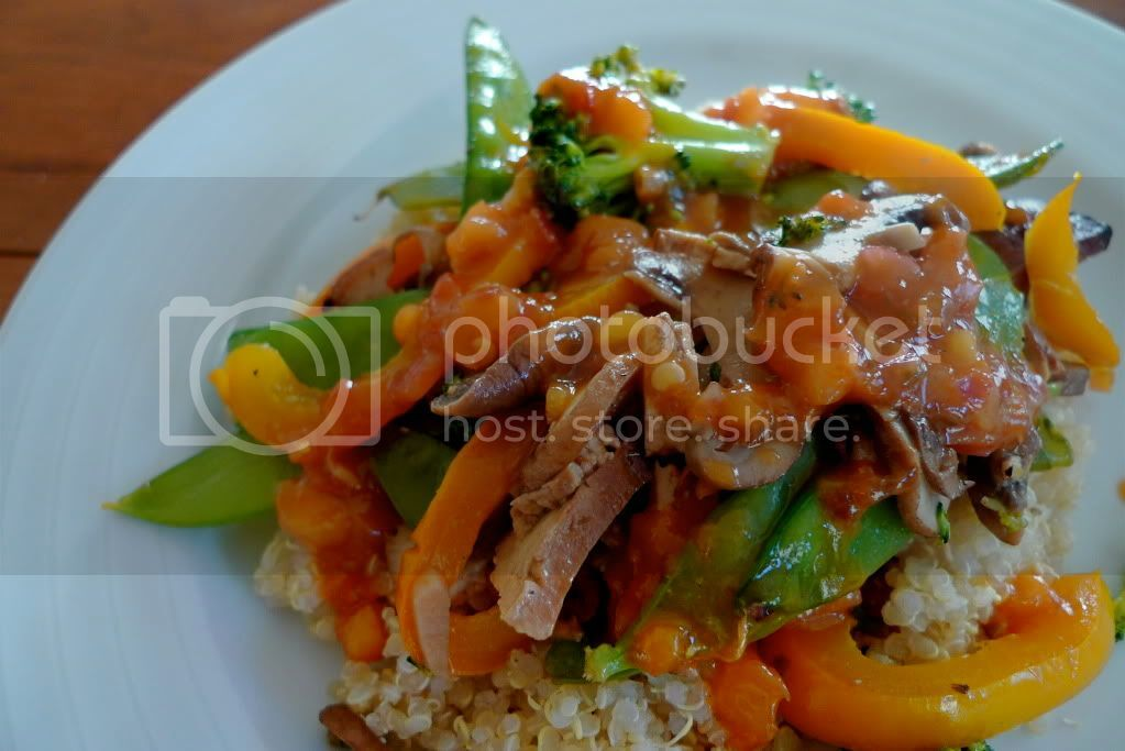 Stir-Fry with Homemade Sweet & Sour Sauce