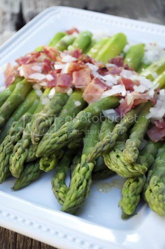 French Fridays with Dorie – Asparagus & Bits of Bacon