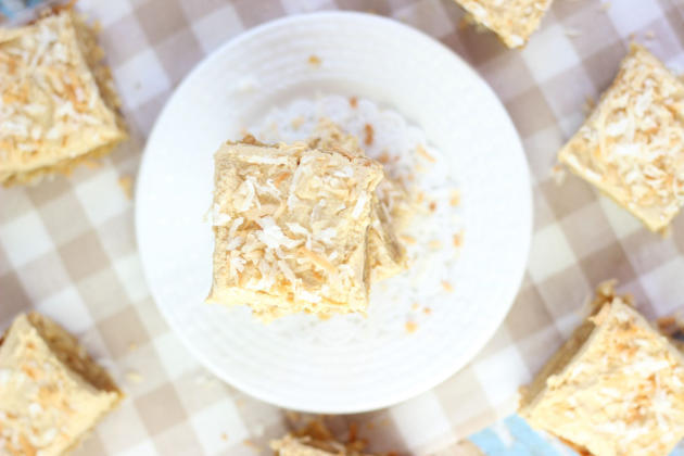 Peanut Butter Coconut Blondies