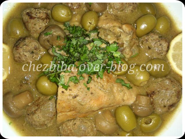 Rkham Cuisine : Kefta aux olives et champignons recipe from mytaste ma