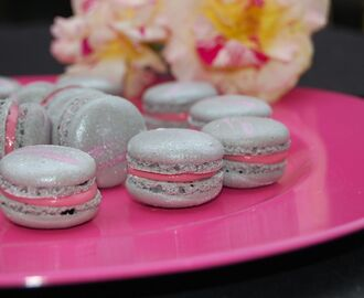 macarons rose et framboise - Colorant Alimentaire Gris
