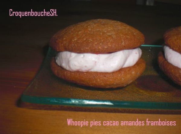 WHOOPIE PIES CACAO AMANDES FRAMBOISES