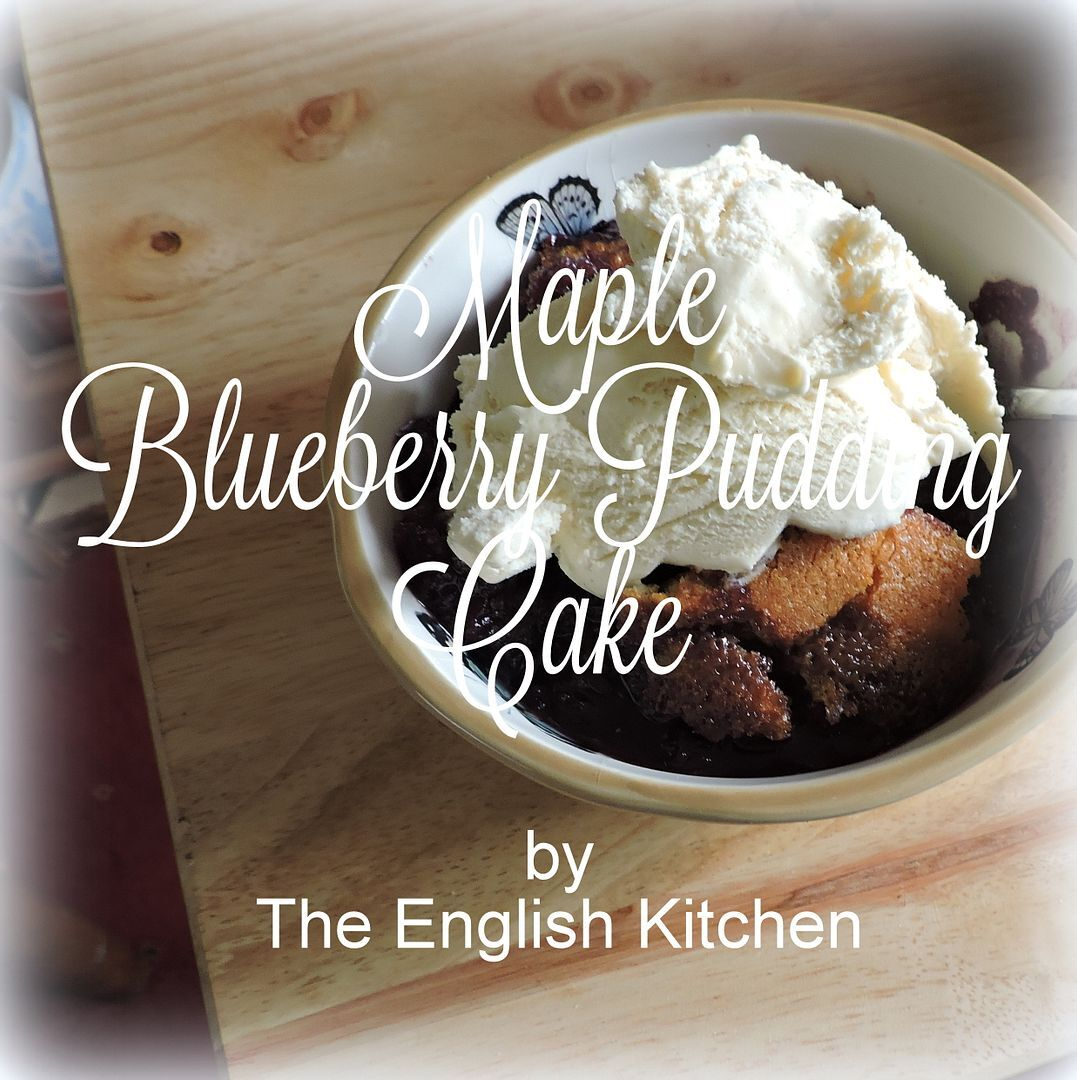 Maple Blueberry Pudding Cake