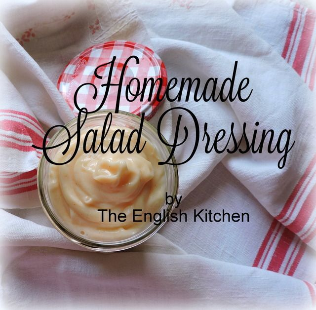 Homemade *Salad* Dressing (Mayonnaise type)
