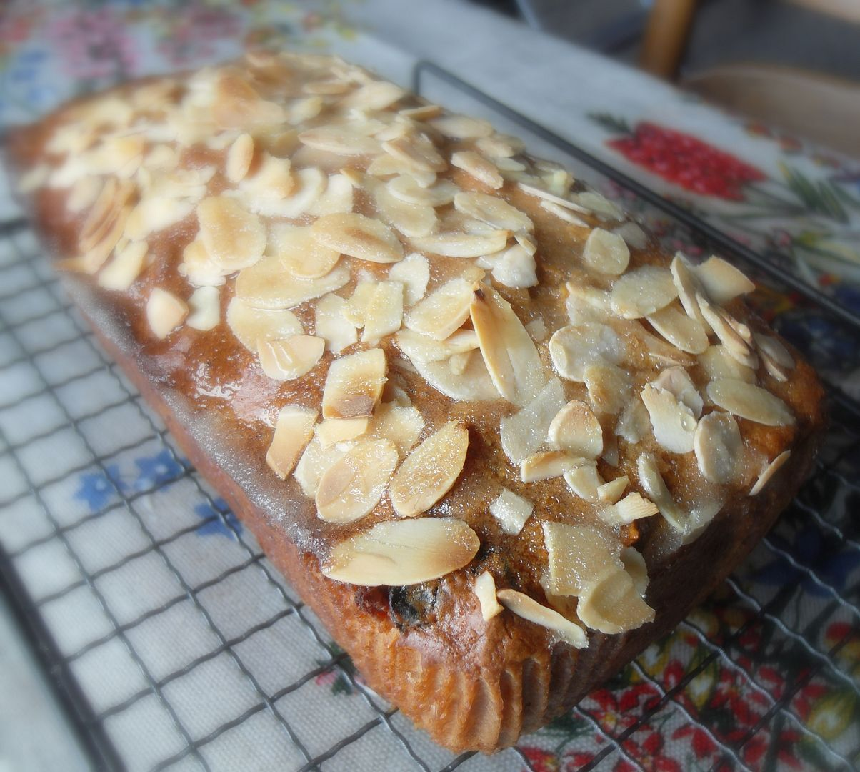 Dried Cherry, Almond and Apricot Breakfast Loaf