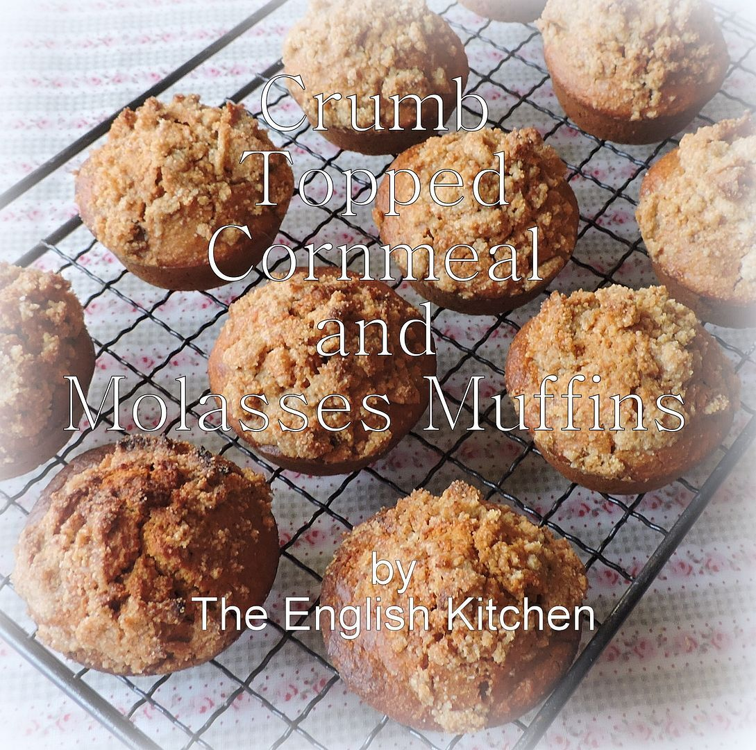 Crumb Topped Cornmeal and Molasses Muffins