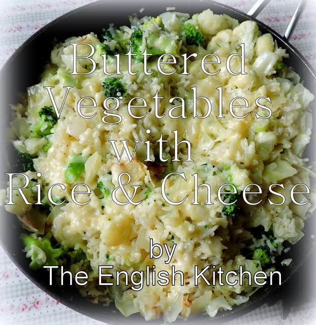 Buttered Vegetables with Rice and Cheese