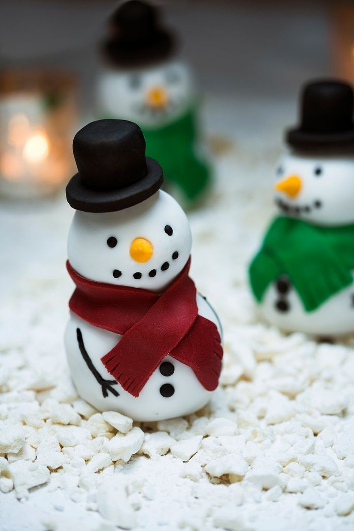 Jolly Rich Fruit Snowmen for Christmas!
