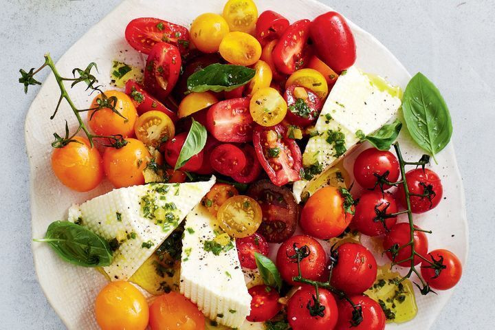 Tomato salad with preserved lemon dressing