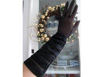 ELEGANTA handskar fri frakt svarta/bal/bröllop/goth/vintage/retro 50-60-tal