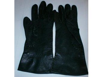 handskar, svarta tunna läderhandskar,vintage, 50-tal