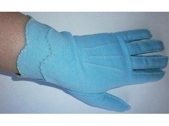 handskar,ljusblå handskar,vintage,60-tal, st 7