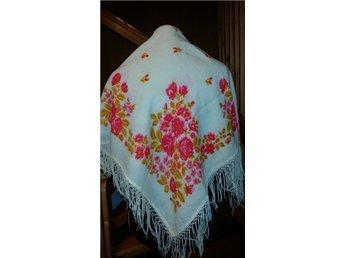 folkdräkt sjal  blomstersjal rysk  folklore