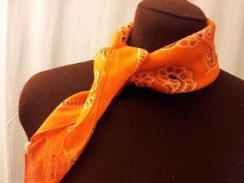 scarf bandana snusnäsduk Paisley bomull NY